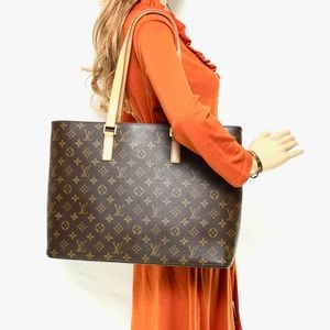 Auth Louis Vuitton Luco Brown Bag Tote #1874L42